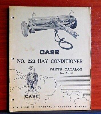Case No 223 Hay Conditioner - Vintage Parts Catalog A810 Suplement 1