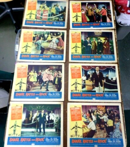 Shake Rattle & Roll Original Lobby Card Fats Domino LOT,,NOT REPRODUCTIONS,ORIG