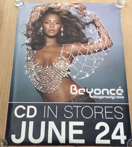 """RARE VINTAGE BEYONCE - DANGEROUSLY IN LOVE  36"""" X 48"""" HUGE PROMO POSTER CD FRONT"""