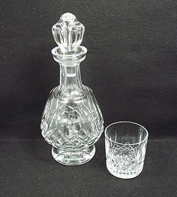 Waterford Crystal Lismore Footed Decanter & Old Fashioned Glass