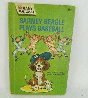 1968 Barney Beagle Plays Baseball Easy Reader Wonder Book A9