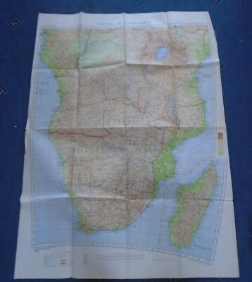 Large Central and South Africa Map 1938 first ed OS Ordnance survey War Office
