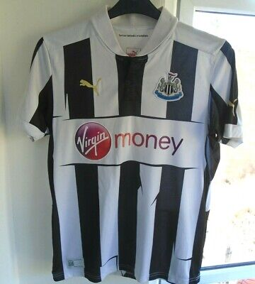 NEWCASTLE UNITED 2012-2013 HOME PUMA FOOTBALL SOCCER SHIRT JERSEY SMALL ADULT