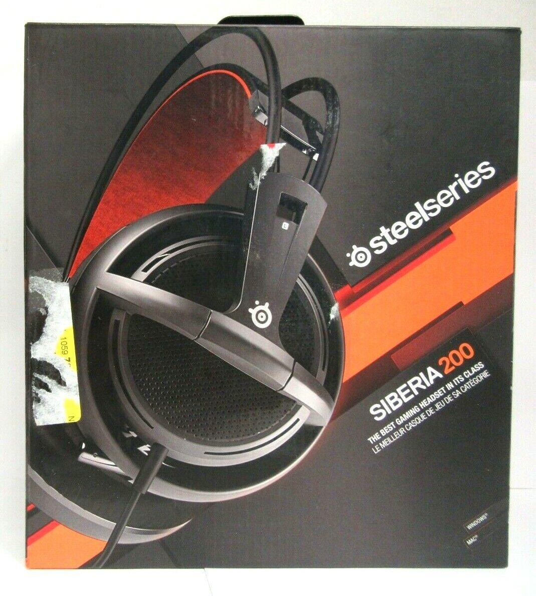 SteelSeries Siberia 200 Headset - Stereo - Black - Mini-