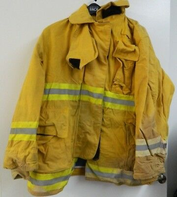 Fyrepel Firefighter Turnout Gear Bunker Padded Jacket Yellow Size X-large 7