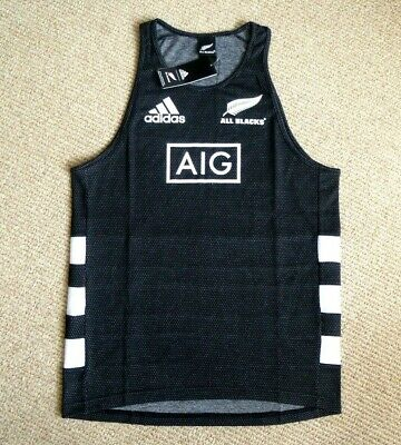*ALL SIZES* Adidas ALL BLACKS Black RUGBY VEST SINGLET shirt NEW ZEALAND 2020
