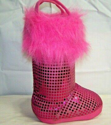 Pink Sparkle Stiefel mit Pelz Auf Top 13