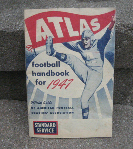 1947 Atlas Football Handbook....Atlas Battery Promo
