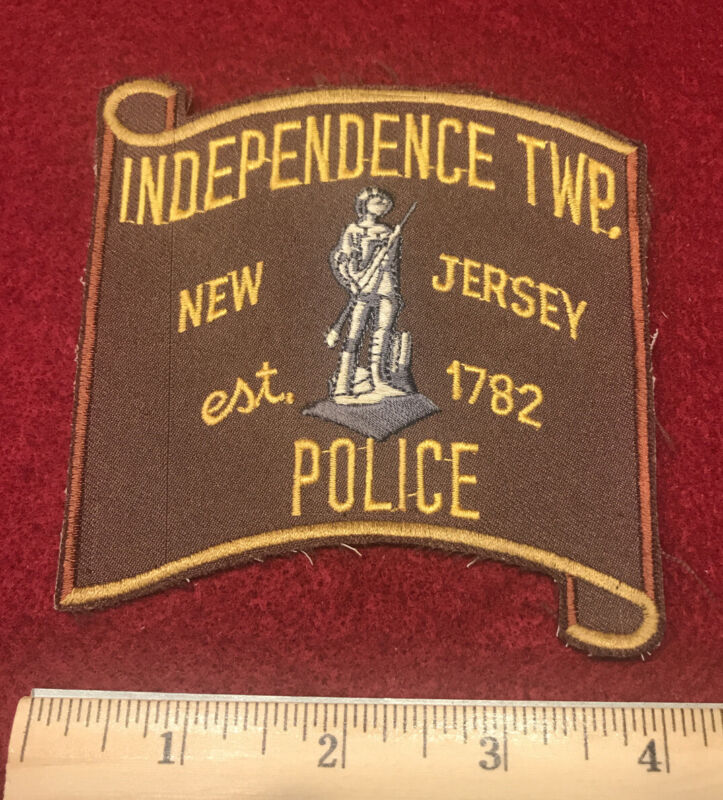 INDEPENDENCE TOWNSHIP NEW JERSEY NJ POLICE PATCH