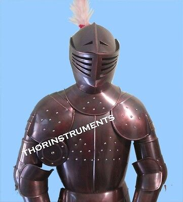 Dark Copper Suit of Armor Medieval Combat Full Body Wearable- Armour With Stand