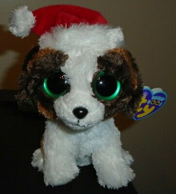 NMT* Ty Beanie Boos - PRESENTS the Holiday Dog (6 Inch) MWNMT