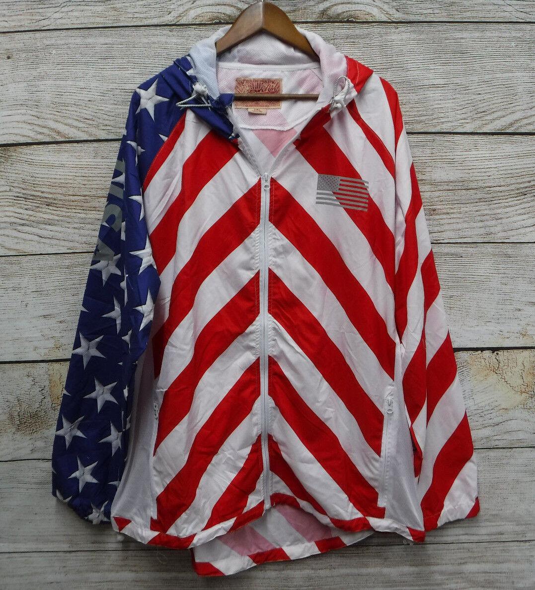 Brooklyn Cloth Big & Tall Mens Size 4XL Patriotic Windbreake