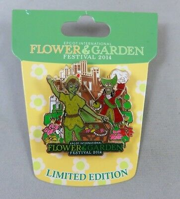 Disney WDW Pin Epcot Flower and Garden Festival 2014 Peter Pan and Captain Hook
