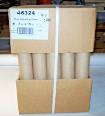 2x15 Kraft Mailing 46324 Shipping Packing Tubes 25cs