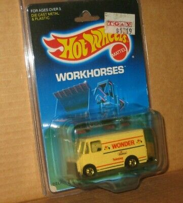 "Hot Wheels WORKHORSES 'Wonder Bread"" MINT in Protecto-Pak.  FREE SHIPPING!"
