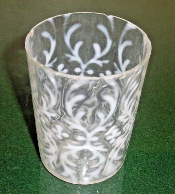 c1890s  Antique TUMBLER  Opalescent SPANISH LACE by NORTHWOOD as-is
