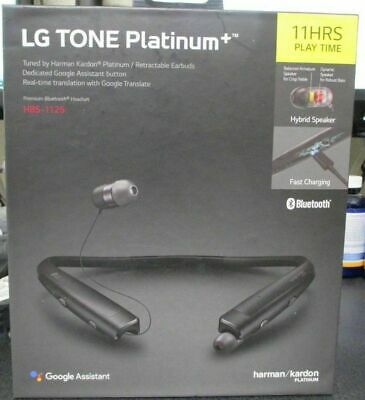 NEW Original LG TONE PLATINUM+ Plus Bluetooth Wireless Headset Black HBS-1125 🔥