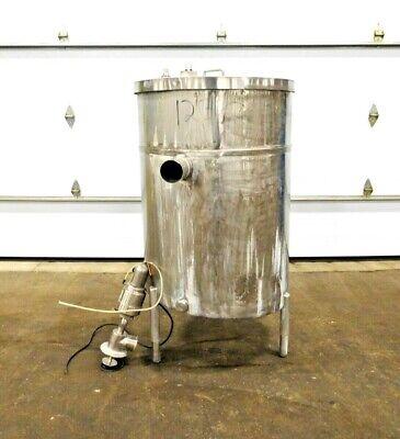 Mo-2899 Stainless Steel 150 Gallon Storage Tank W Tri-flo Valve 46 D X 31 W