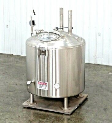 Mo-2992 Feldmeier 250 Gallon Air Insulated Jacketed Tank W Scale.
