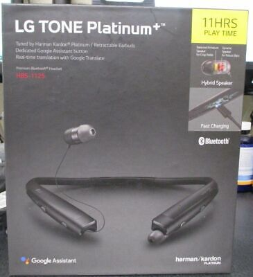 LG TONE PLATINUM+ Plus Bluetooth Headset Black HBS-1125 Harman Kardon
