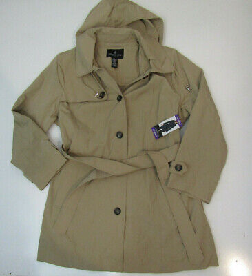 LONDON FOG Womens British Khaki Jacket Trench Coat NWT Size M Medium