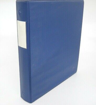 Wilson Jones 1.5 3 Ring Binder Dark Blue Dubllock With Page Lifters Pockets