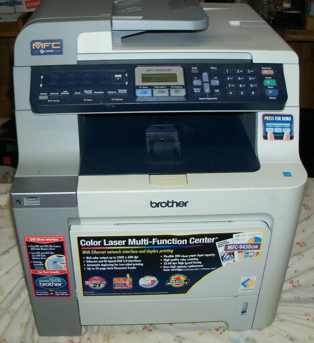 NICE BROTHER MFC-9450CDN ALL-IN-ONE COLOR LASER PRINTER, COP