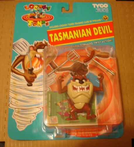 Tyco Looney Tunes Tasmanian Devil figure w/ card 1993 NEW MIP