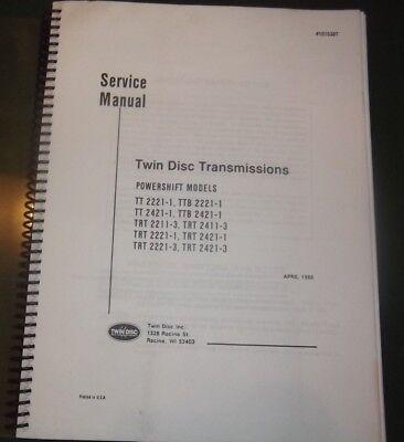 Twin Disc Tt Ttb Trt Powershift Transmission Service Shop Repair Workshop Manual