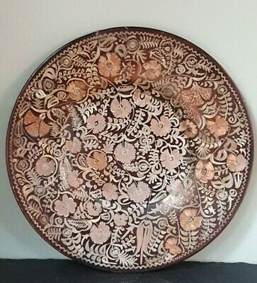 Erzincanlilar Turkish Istanbul Etched Copper Display/Serving Plate