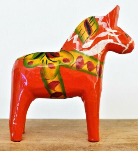 Vintage SWEDEN Wood DALA HORSE G.A. Olsson NUSNAS Label CARVING Folk Art #2