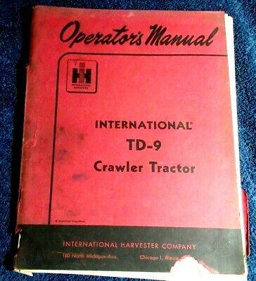 1959 Operators Manual International Harvester Td-9 Crawler Tractor