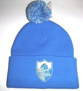 new arrival 91426 2d01a San Diego Los Angeles Chargers New Cuffed Beanie  Toque   Knit Hat With Pom  NFL