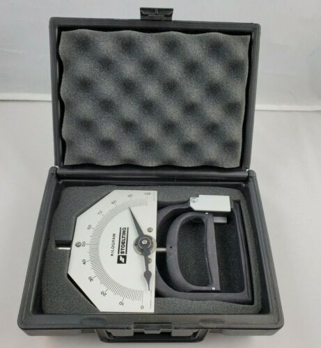 Vintage NOS Stoelting Kilogram Smedley Hand Dynamometer 0-100 Kilo Range - USA