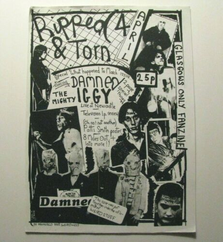 IGGY POP - PATTI SMITH - THE DAMNED *RIPPED & TORN* SPECIAL EXHIBIT ISSUE – PUNK