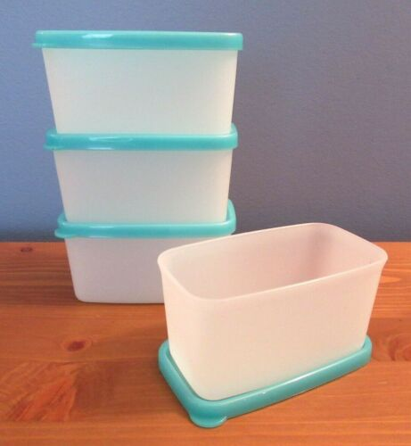 Set of (4) TUPPERWARE 3/4 Cup Freeze-It Mini Freezer Snack Containers~#2065
