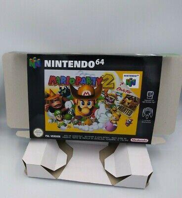 Mario Party 2 - repro box with insert - N64 - Pal, NTSC or Australian Pal. HQ !!