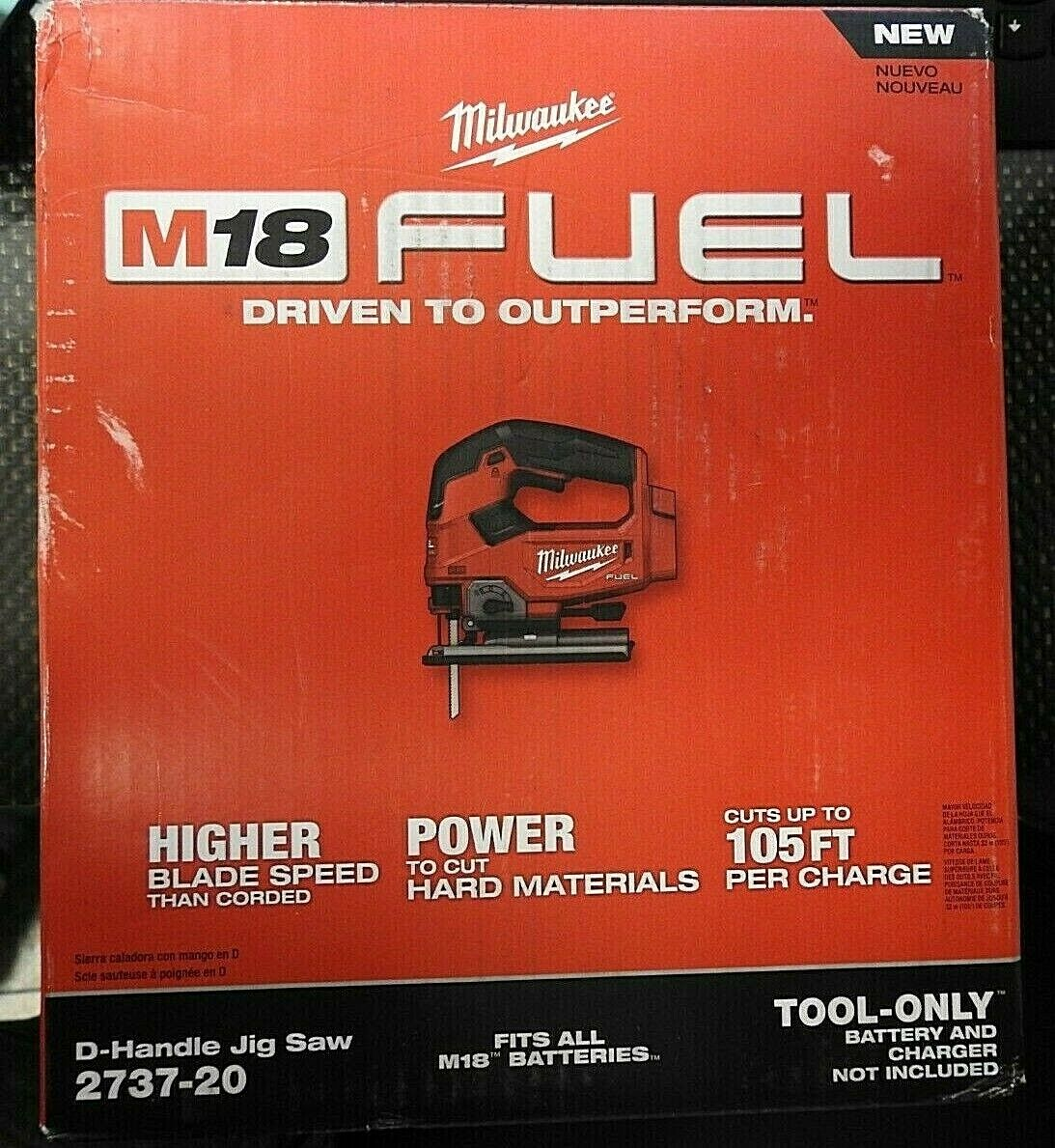 Milwaukee 2737-20 M18 Jig Saw Fuel Lithium-Ion