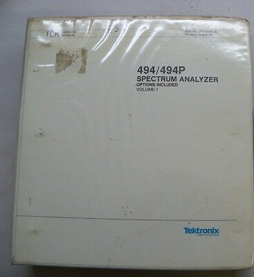 Tektronix 494494p Spectrum Analyzer Service Manual Volume 1 Only 070-4416-00