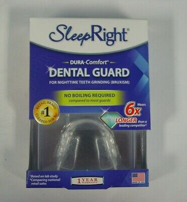Boil Dental Guard - BRAND NEW SEALED SLEEP RIGHT NO BOIL DURA COMFORT DENTAL GUARD