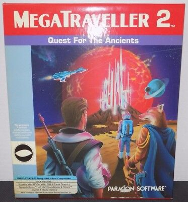 Megatraveller 2 Quest For The Ancients Big Box Pc Ibm Game Complete Cib Untested