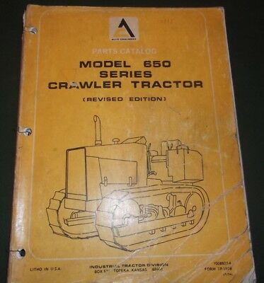 Allis Chalmers 650 Series Crawler Tractor Dozer Parts Manual Book Catalog