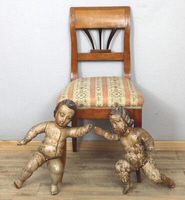 BAROCK ENGEL HOLZ GESCHNITZT ANTIK a pair of old angels Putten Putti Putto Putte