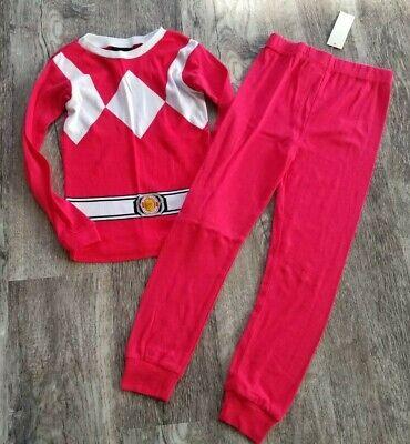 Red Power Ranger Pajamas (Boys Mighty Morphin POWER RANGERS Red PAJAMAS Sleepwear Size 8 - NEW)