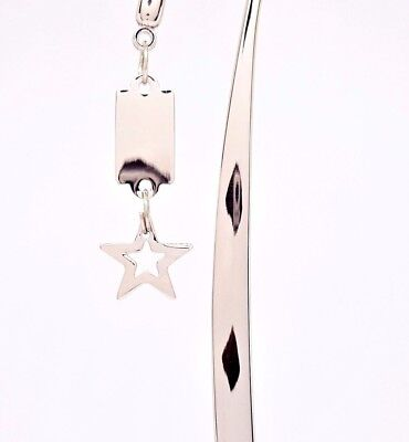 Silver Star & Tag Charm Bible Book Marker
