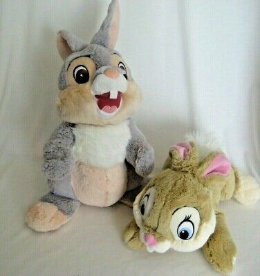 "Disney Store Thumper & Miss Bunny Plush From Bambi 12"" Soft & Clean"
