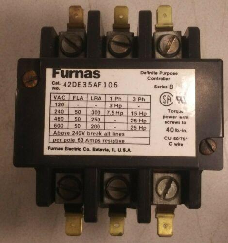 1 NEW FURNAS 42DE35AF106 MAGNETIC CONTACTOR NNB ***MAKE OFFER***