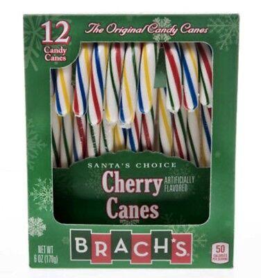 1X Brach's Original Multi-Colored Cherry Flavored Candy Canes 5.7 oz X-02/2021 - Flavored Candy Canes