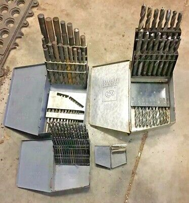 Machinist Drill Bit Set Lot 0-60 61-80 A-z 116-12 Tool Box Find Lathe Mill Tap