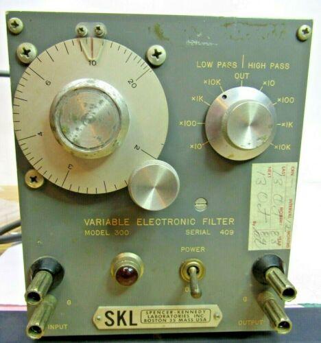 SKL Spencer Kennedy Labs Model 300 Tube Variable Electronic Filter 20 HZ-200khz